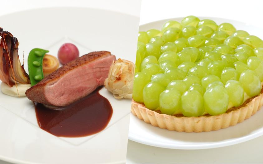 【調理】鴨肉のロースト(デモ)/【製菓】岡山県産のフルーツタルト