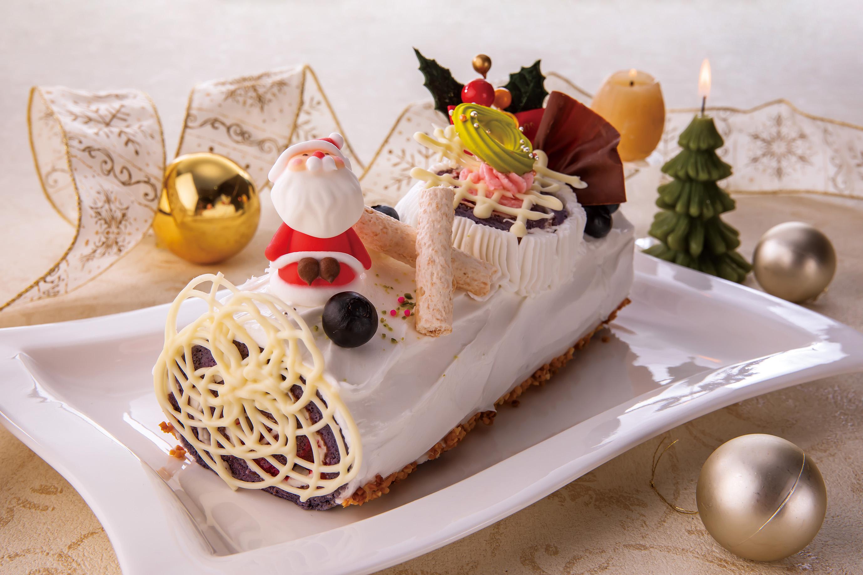 フランスのクリスマスケーキ ブッシュ・ド・ノエル