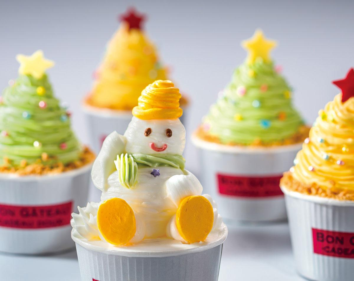クリスマスのカップケーキ