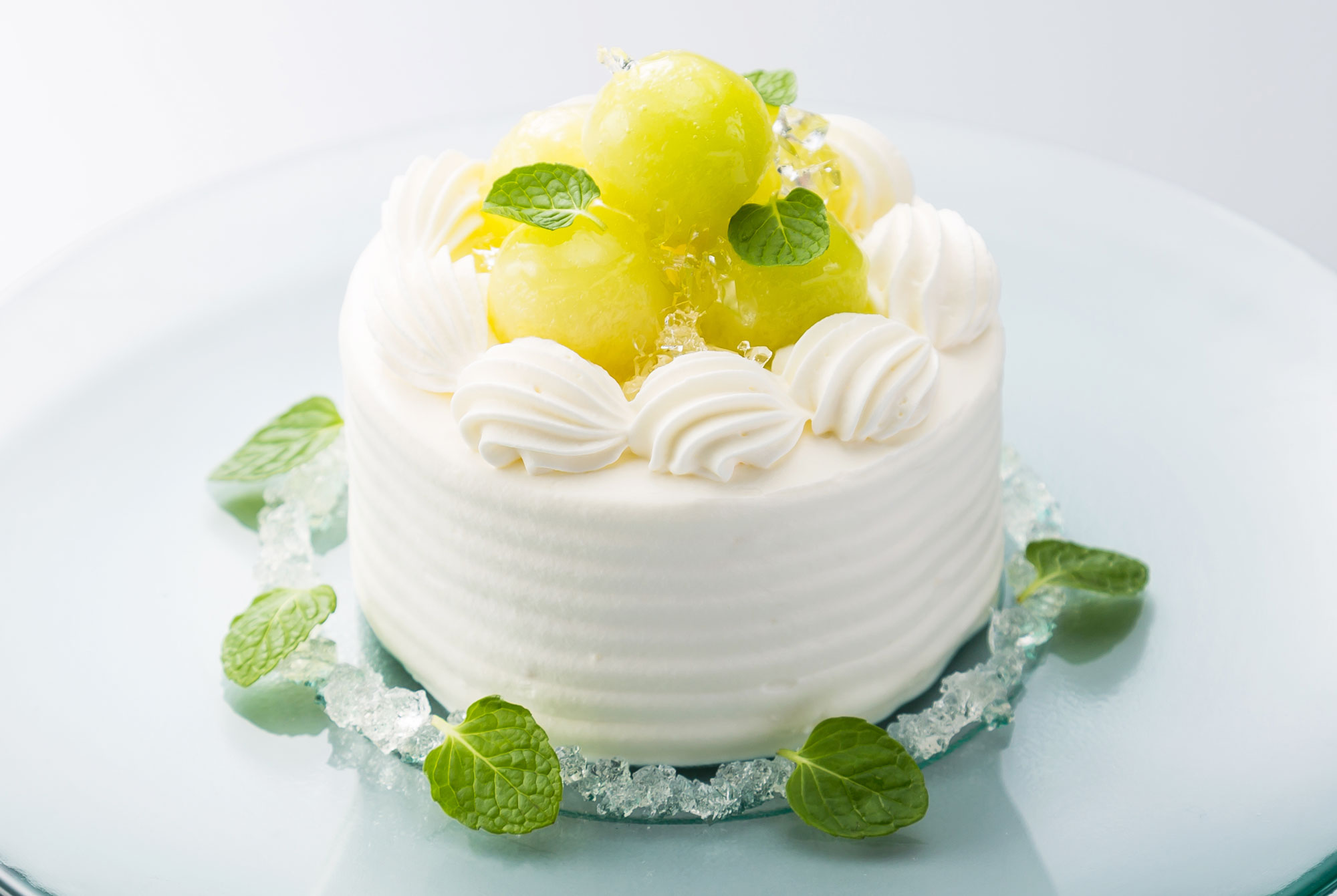 メロンショートケーキ